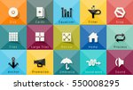 icons vector collection.... | Shutterstock .eps vector #550008295