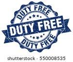 duty free. stamp. sticker. seal....   Shutterstock .eps vector #550008535