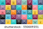 thin lines icons set with... | Shutterstock .eps vector #550009351