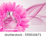 shower gel bottle template for... | Shutterstock .eps vector #550010671