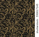 seamless pattern. vintage style ... | Shutterstock .eps vector #550017145