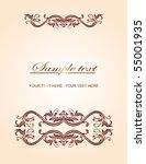 vintage vector design   Shutterstock .eps vector #55001935