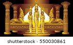 three egyptian queen between... | Shutterstock .eps vector #550030861