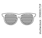 pinhole glasses icon. outline... | Shutterstock . vector #550031719