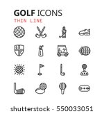 simple modern set of golf icons....