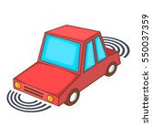 parking assist system icon....   Shutterstock . vector #550037359