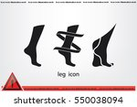 leg icon vector illustration... | Shutterstock .eps vector #550038094