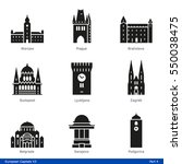 european capitals  part 4   ... | Shutterstock .eps vector #550038475