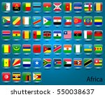 set of vector icons of flags in ... | Shutterstock .eps vector #550038637