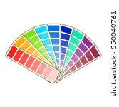 color swatch icon. cartoon
