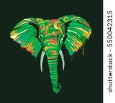 abstract color elephant   Shutterstock .eps vector #550042315