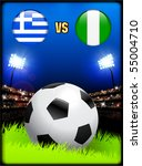 greece versus nigeria on soccer ... | Shutterstock .eps vector #55004710
