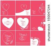 set of valentines card  happy... | Shutterstock .eps vector #550047244