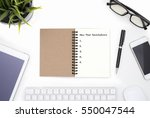 office table with new year... | Shutterstock . vector #550047544