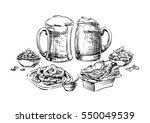 the composition of drinks and... | Shutterstock .eps vector #550049539