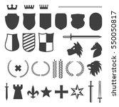 black crest shield elements... | Shutterstock .eps vector #550050817