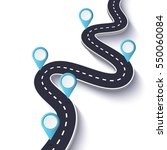 winding road on a white... | Shutterstock .eps vector #550060084