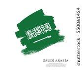 flag of saudi arabia  brush...   Shutterstock .eps vector #550061434