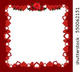 frame with glitter hearts and... | Shutterstock . vector #550062151