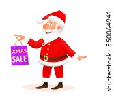 santa claus isolated on white... | Shutterstock . vector #550064941