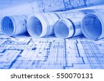 architectural project  | Shutterstock . vector #550070131