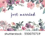 watercolor floral illustration  ... | Shutterstock . vector #550070719