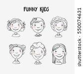 funny kids  | Shutterstock .eps vector #550074631