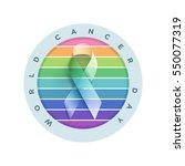 world cancer day. vector... | Shutterstock .eps vector #550077319