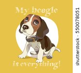 puppy beagle in a collar on a...   Shutterstock .eps vector #550078051