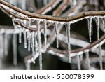 Closeup Of Icicles Hanging Fro...