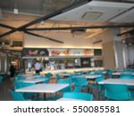 Stock photo blur college students in the cafeteria there is not much time the atmosphere of the restaurant 550085581
