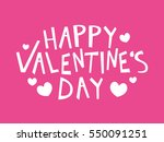 happy valentine's day text on... | Shutterstock .eps vector #550091251