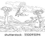 vulture of the island socotra...   Shutterstock .eps vector #550095094