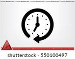 clock icon vector. | Shutterstock .eps vector #550100497