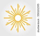 vintage sunburst. vector... | Shutterstock .eps vector #550101595