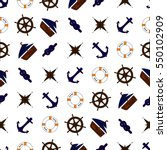 Seamless Nautical Pattern With...