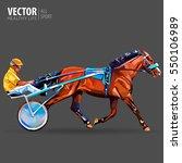 jockey and horse. champion....   Shutterstock .eps vector #550106989