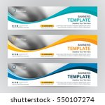 abstract web banner design... | Shutterstock .eps vector #550107274