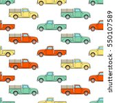 Pickup Truck Vintage. Pattern...