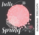 hello spring grating card.... | Shutterstock .eps vector #550111474