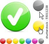 Check Glossy Vibrant Round Icon.
