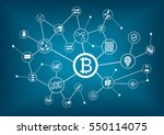 bitcoin vector illustration... | Shutterstock .eps vector #550114075