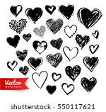 vector hand drawn collection of ... | Shutterstock .eps vector #550117621