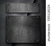 metal plate | Shutterstock . vector #550118224