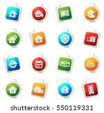 real estate color icon for web... | Shutterstock .eps vector #550119331