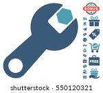 wrench pictograph with free... | Shutterstock .eps vector #550120321