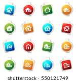house type color icon for web... | Shutterstock .eps vector #550121749