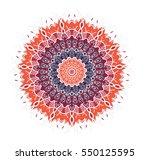 hand drawn mandala in arabic ... | Shutterstock .eps vector #550125595