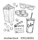 hand drawn vector illustrations ... | Shutterstock .eps vector #550128301