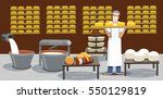 cheese manufacture .cheese... | Shutterstock .eps vector #550129819